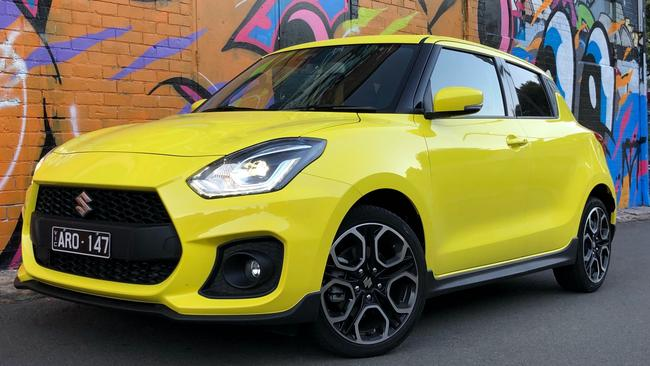 Lots of front: the Swift's bold nose and bright colours mean it stands out in a crowd.