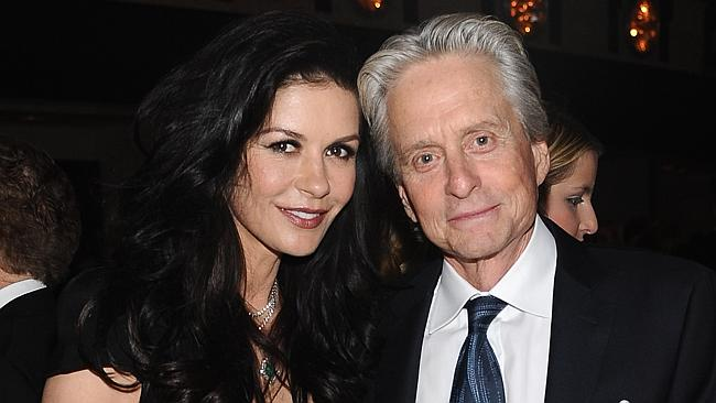 So enamoured was Michael Douglas with Catherine Zeta Jones on their first meeting, he told her he'd like to impregnate her. Smoooooth, Micky D. Getty Images