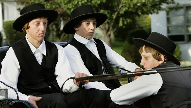 These Amish boys could actually be 48 years old.