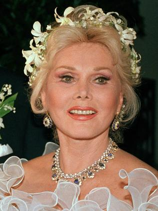 Zsa Zsa Gabor is shown Los Angeles in 1986. Picture: AP