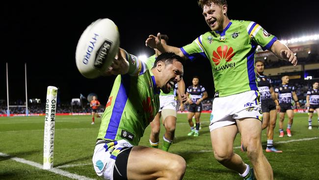 Jordan Rapana enjoyed a knockout season with Canberra. Picture: Brett Costello