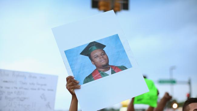 Hopeful future ... Michael Brown was due to start lessons at a Missouri trades college. Picture: Scott Olson/Getty Images/AFP