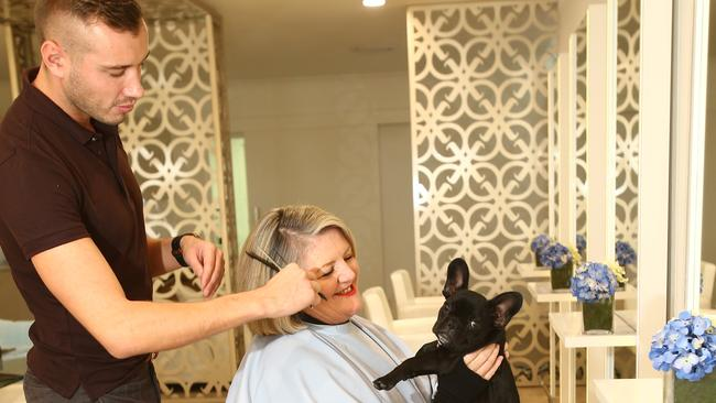 A hair salon in main beach has found a business drawcard for A family pet salon