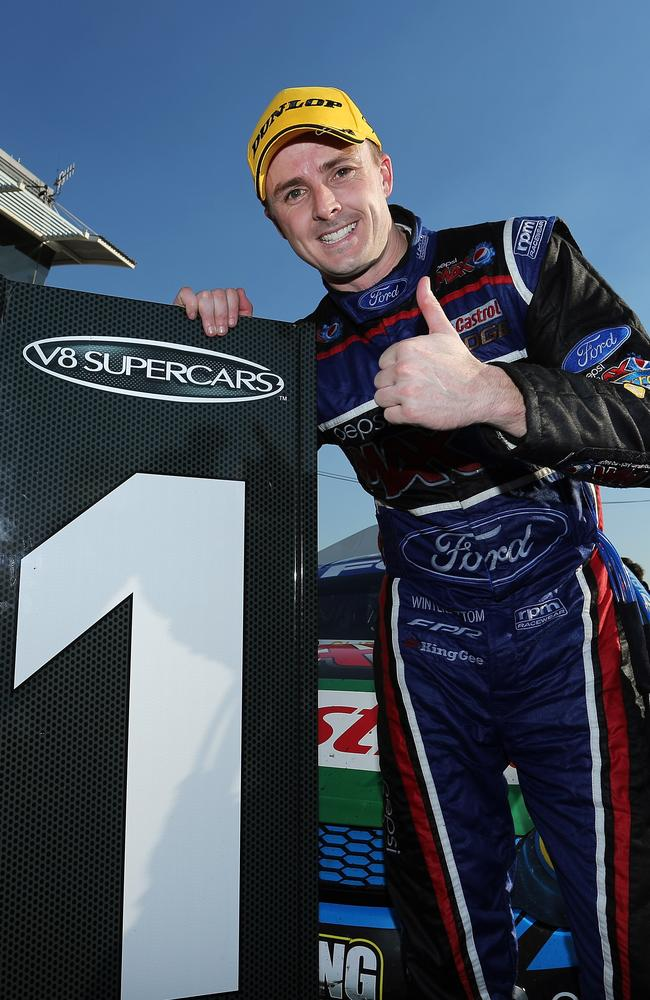 Mark Winterbottom after his success in Darwin.