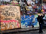 Alcoves boarded up in Hosier lane Melbourne. Picture: Nicole Garmston