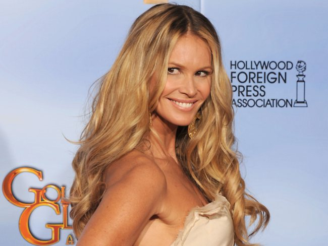 Elle Macpherson poses in the press room at the 69th Annual Golden Globe Awards. Picture: Getty