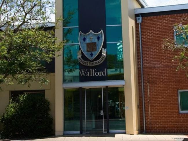 Undercover police arrested the couple in front of parents and students as they picked up their daughters from Adelaide's exclusive Walford Anglican School for Girls. Picture: Supplied