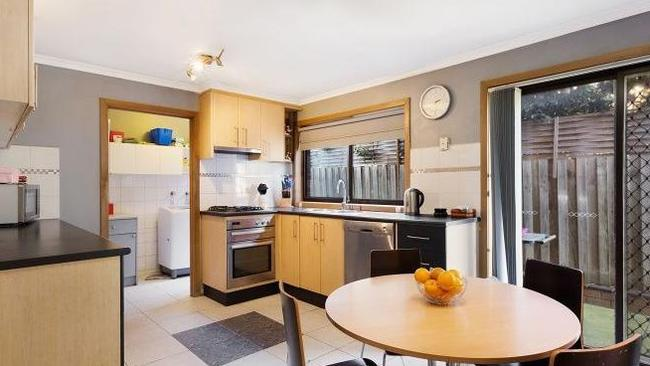 The home's open-plan kitchen, pictured when the house sold in 2016.
