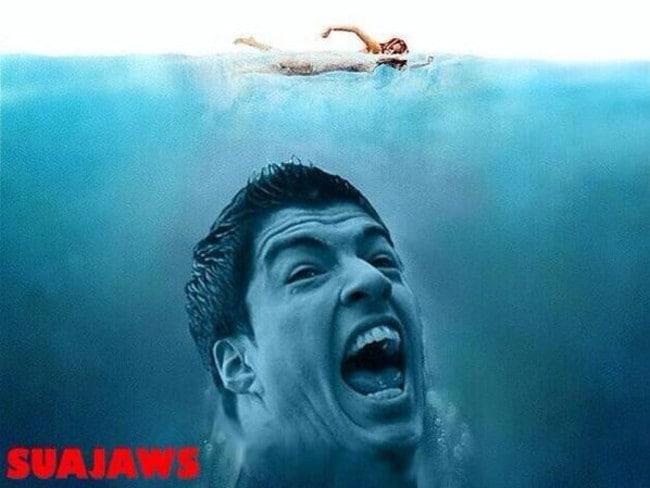 Luis Suarez's new movie.