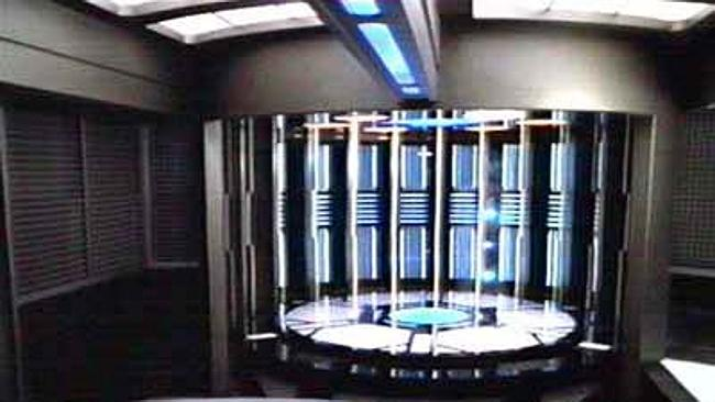 Beam me up ... a transporter chamber and control console aboard the USS Voyager in Star Trek. Picture: Wikipedia/Star Trek