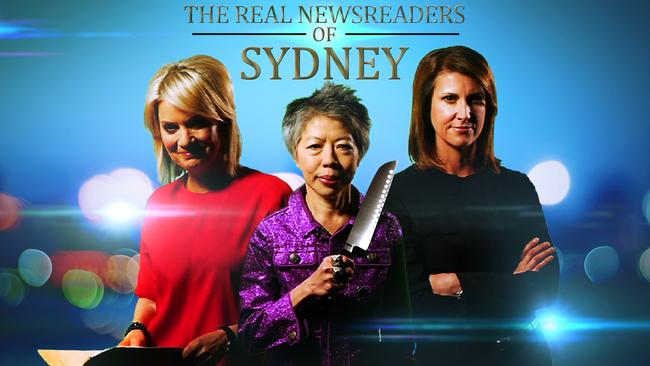 Ruthless ... Sandra Sully, Lee Lin Chin and Natalie Barr in Real Newsreaders Of Sydney. Picture: Supplied
