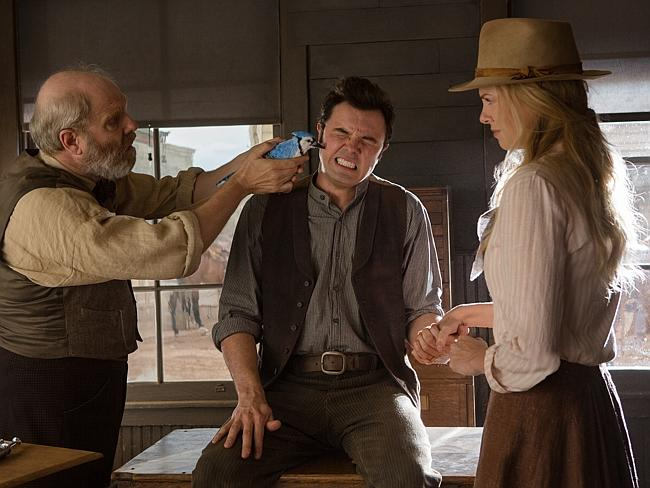 "MacFarlane is ""alternately nervy, needy and naughty"" in A Million Ways To Die in the West"