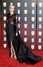 Andrea Riseborough attends the EE British Academy Film Awards (BAFTA) held at Royal Albert Hall on February 18, 2018 in London, England. Picture: Jeff Spicer/Getty Images