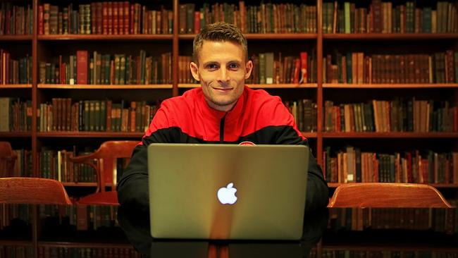 Shannon Cole, Western Sydney Wanderers player, has written a sci-fi novel.