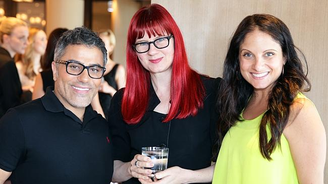 Glynis Traill-Nash (centre), pictured at a fashion event.