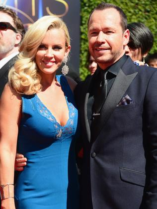 Newlyweds ... Jenny McCarthy and Donnie Wahlberg.