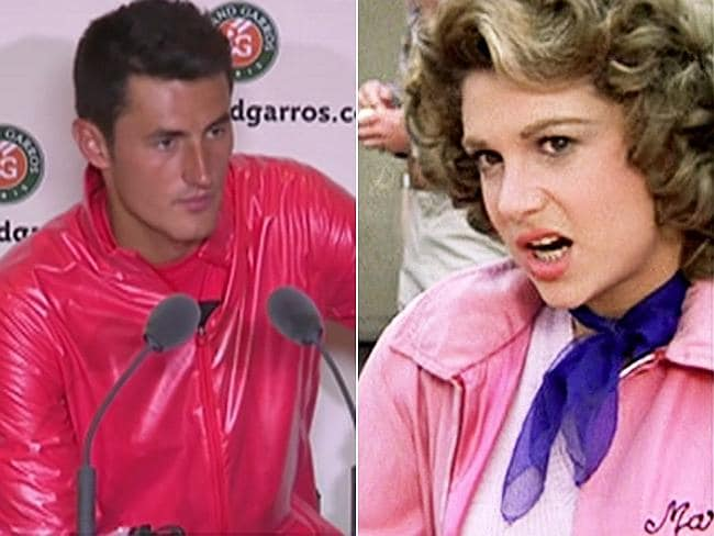 If tennis doesn't work out, maybe he could star in a production of Grease.