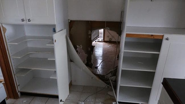 The vandals inflicted terrible damage on the home which had not yet been occupied by the new owners.