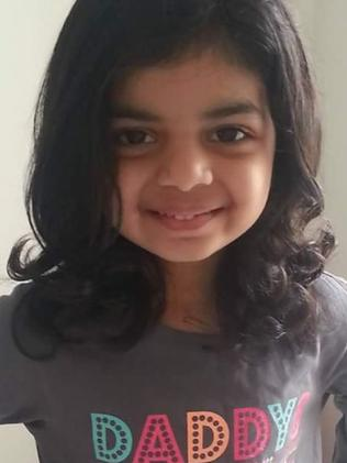 Riaa Kilkarni, 7, from Melbourne is also in Mexico receiving treatment. Picture: Supplied