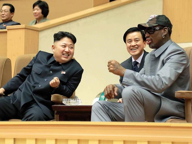 Kim Jong-un hangs out with former basketballer Dennis Rodman.