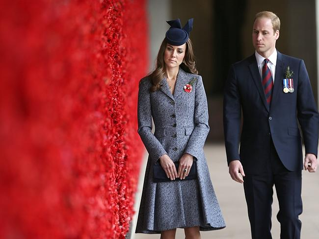 William and Kate were clearly moved at the Anzac Day services. Picture: Gary Ramage/AP