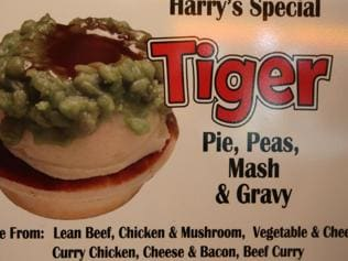 "The classic Harry's pie, the ""Tiger"". Picture: Bill Hearne."