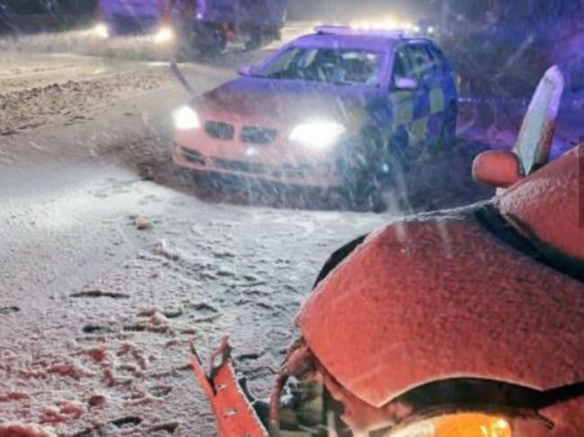 Numerous accidents were reported in the treacherous conditions. Picture: Twitter