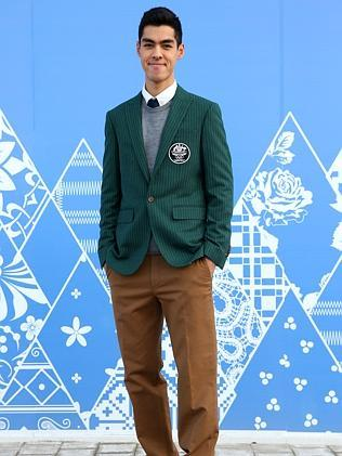 Australian short track speed skater Pierre Boda, formal uniform / Picture: Getty Images