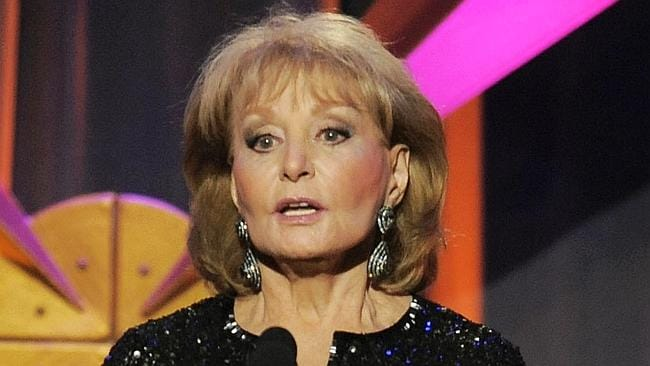 Barbara Walters: Believes you can feed your child and figure out whether or not the earth is flat AT THE SAME TIME. Picture: AP
