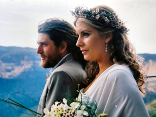 Kim and Adrian at their wedding. Photo: Supplied