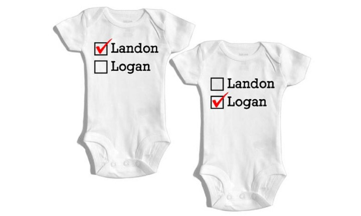 Christmas gift guide for twin baby kidspot bpractical information bodysuitsb from etsy 3761 postage negle Choice Image