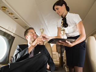 Generic stock picture of flight attendant