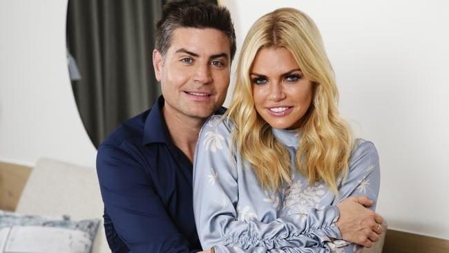 Sophie Monk Cuddles Up To Bachelorette Winner Stu Laundy Picture Justin LloydSourceNews Corp Australia