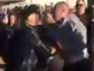 Footage has emerged of the aftermath of a brawl at a junior football grand final.