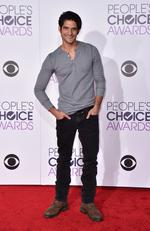 Tyler Posey arrives at the People's Choice Awards 2016. Picture: Jordan Strauss/Invision/AP