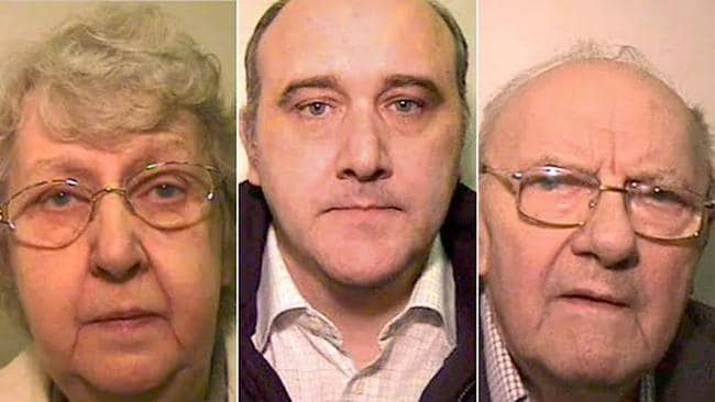 Forger Greenhalgh, centre, and his parents Olive and George were nicknamed 'the garden shed gang'. Picture: Supplied