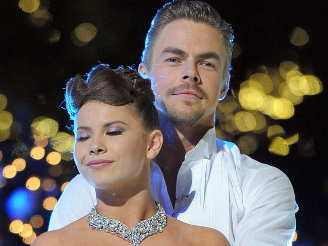Bindi Irwin and Derek Hough during the Dancing With The Stars season finale.
