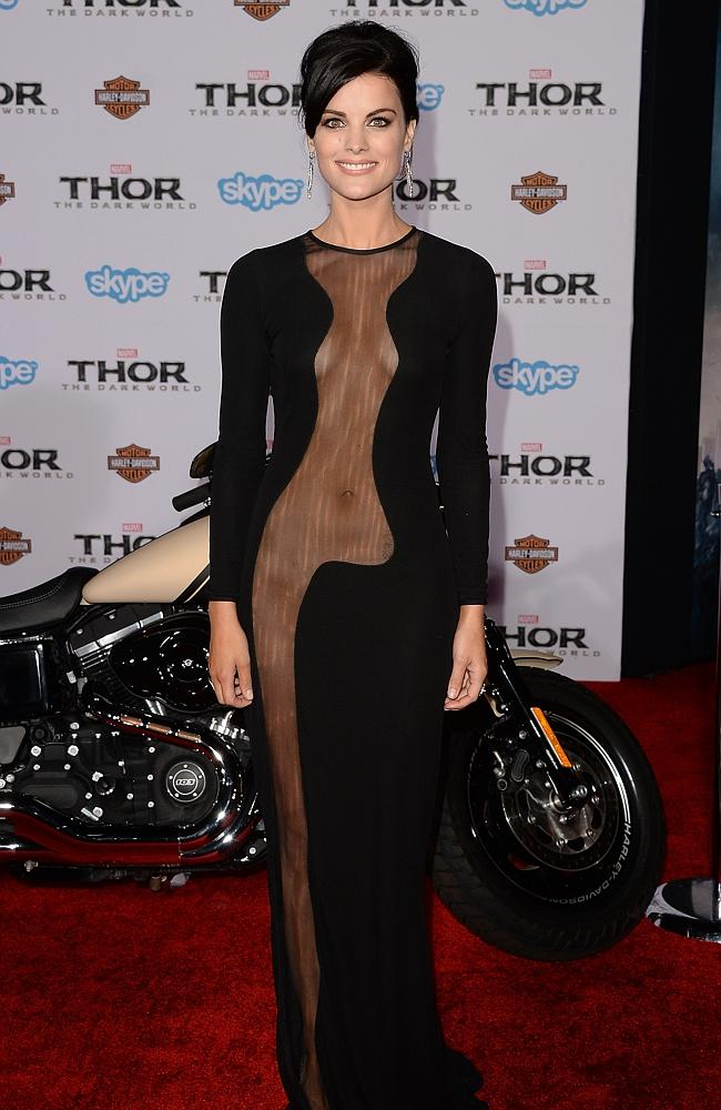 """Jaimie Alexander's gown was called """"the most daring ever"""" by critics and fashion writers. Picture: Getty"""