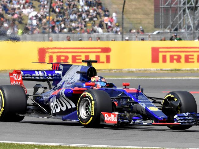 Kvyat had a race to forget at Silverstone.