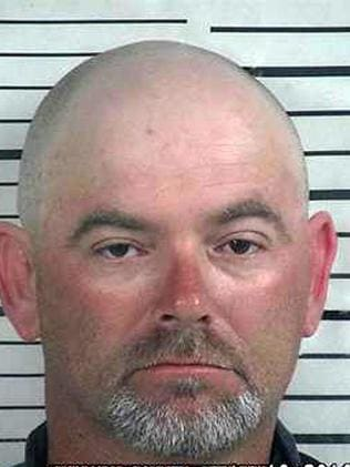 Accused of shooting dead his daughter's sexual attacker ... Jay Maynor, 41. Picture: Cullman County Sheriff's Office
