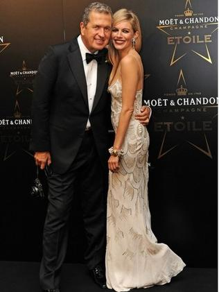 Mario Testino and Sienna Miller at the Moet et Chandon awards in 2011. Photo: Getty