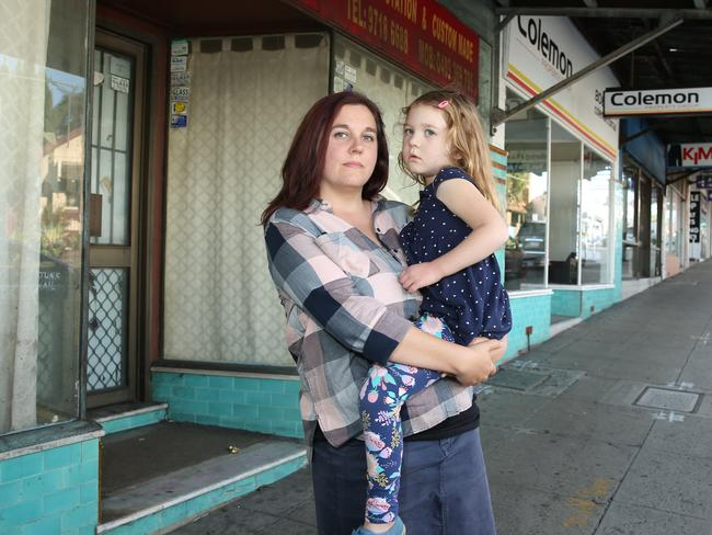 Sharon Baldwin pictured on Canterbury Rd with daughter Luella. Picture: Tim Hunter