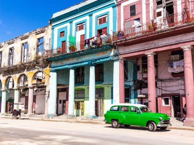 The classic coloured streets of Havana.