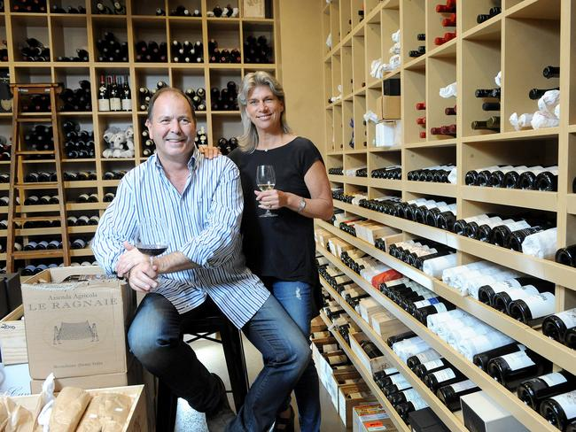 Michael and Margie Andrewartha of The Tasting Room in the new East End Cellars. Picture: Keryn Stevens