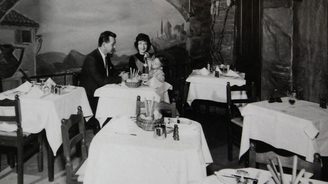 Beppi, his wife Norma and son Mark inside the restaurant in the 1960