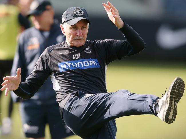 Blues coach Mick Malthouse winds back the clock.