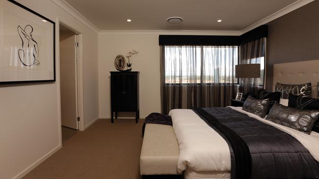 Master bedroom ... The are five bedrooms upstairs. Picture: John Fotiadis