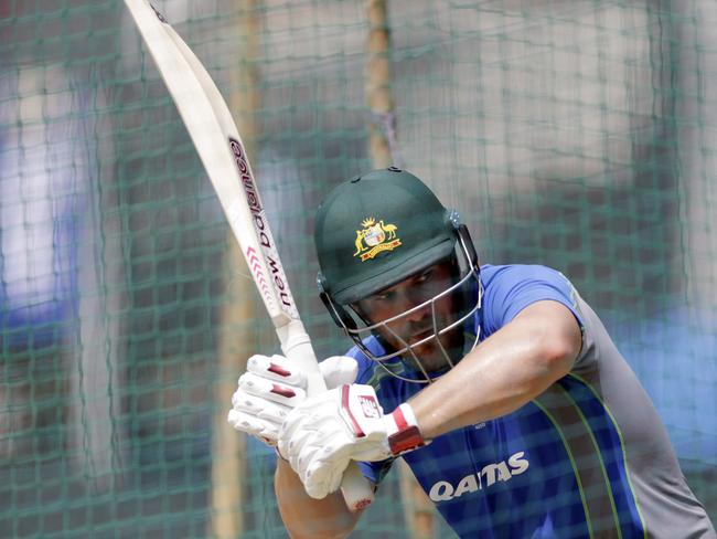 Aaron Finch impressed in a net session prior to Sunday's third ODI.