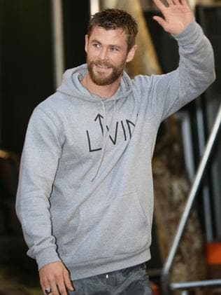 Chris Hemsworth, on the set of Thor: Ragnarok being filmed in Brisbane, is a Hollywood star whose every move is watched. Picture: Steve Pohlner