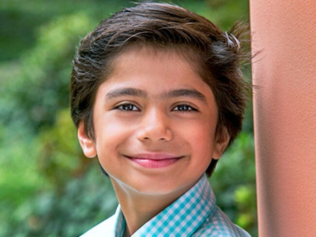 Never acted ... Neel Sethi has been cast as Mowgli in The Jungle Book.